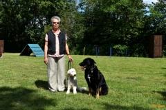 Petra mit Flocke und Wilma
